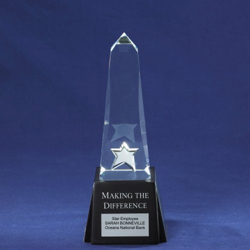 Making the Difference Obelisk Monument Trophy